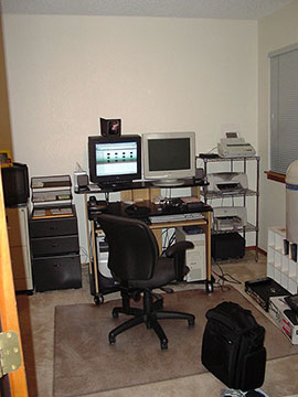 Logic Integration's First Office (in Shawns home)