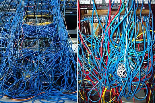 Wire Management Services - Clean u messy wires and cables