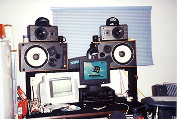 Shawns home audio system in 1992.